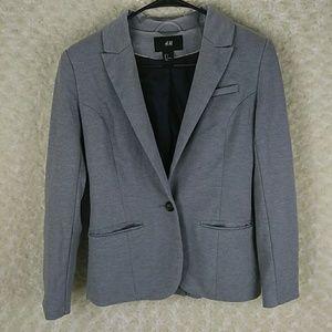 H&m women's blazer grey
